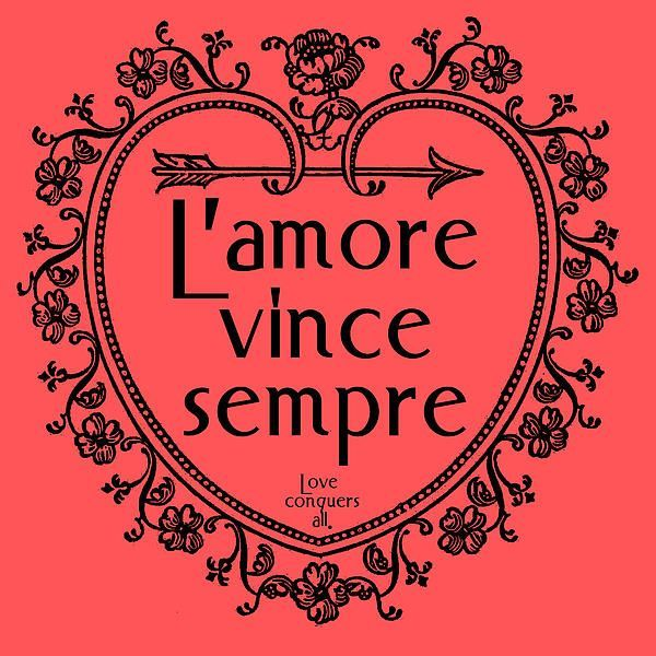 Latin Quotes  C B Lamore Vince Sempre Love Conquers All We Took A Vintage Border Shaped