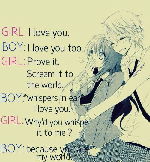 So Cute If Youre Curious The Pic Is From An Absolutely Adorable  C B Coupleanime Love Couplequoteslove