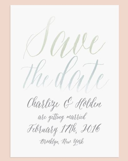 Watercolorigraphy Save The Date From Love Vs Design