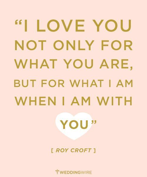 I Love You Not For Only For What You Are But For What I