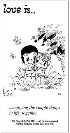 Love Is Enjoying The Simple Things In Life Together  E  A