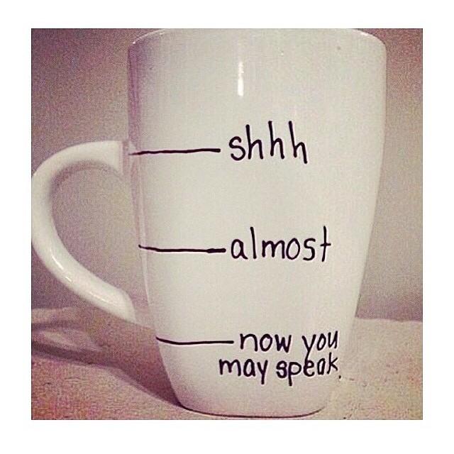 Let Me Drink My Coffee