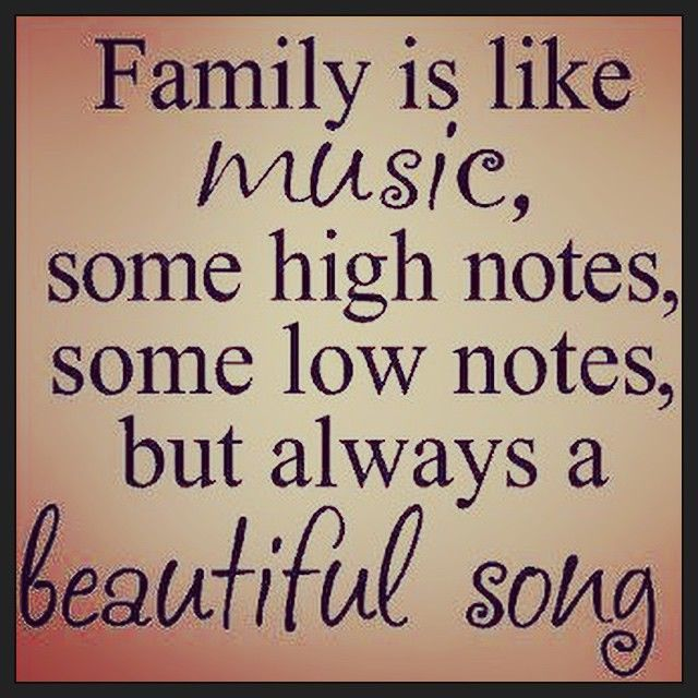 Family Is Like Music