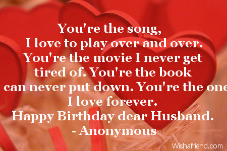 Love Quotes For Husband On Birthday