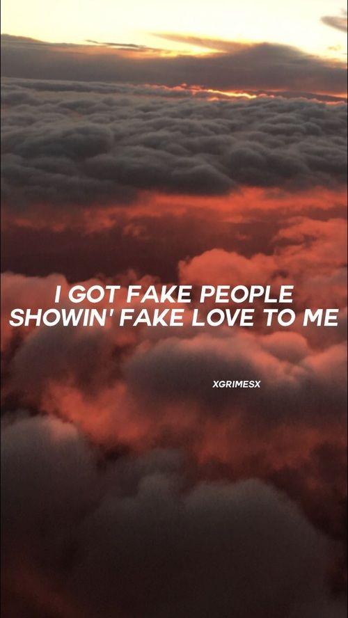 Fake Love By Drake Lyric Lockscreen On We Heart It