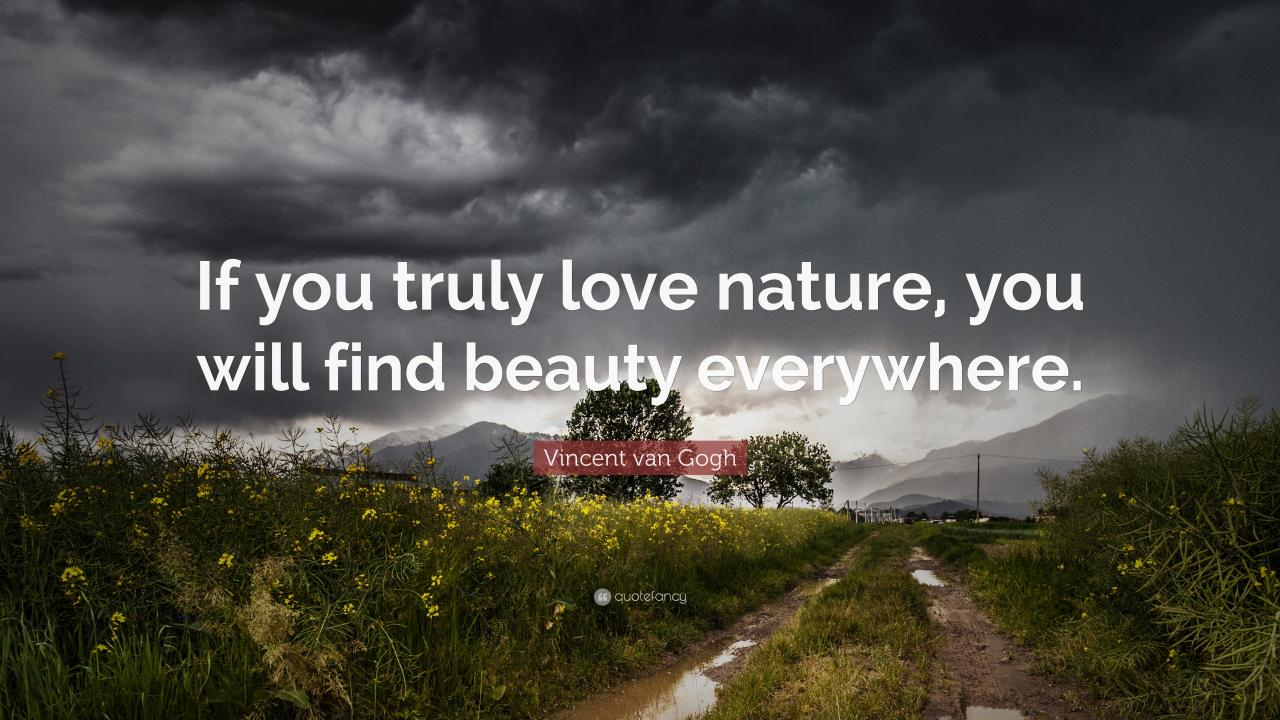 Vincent Van Gogh Quote If You Truly Love Nature You Will Find Beauty