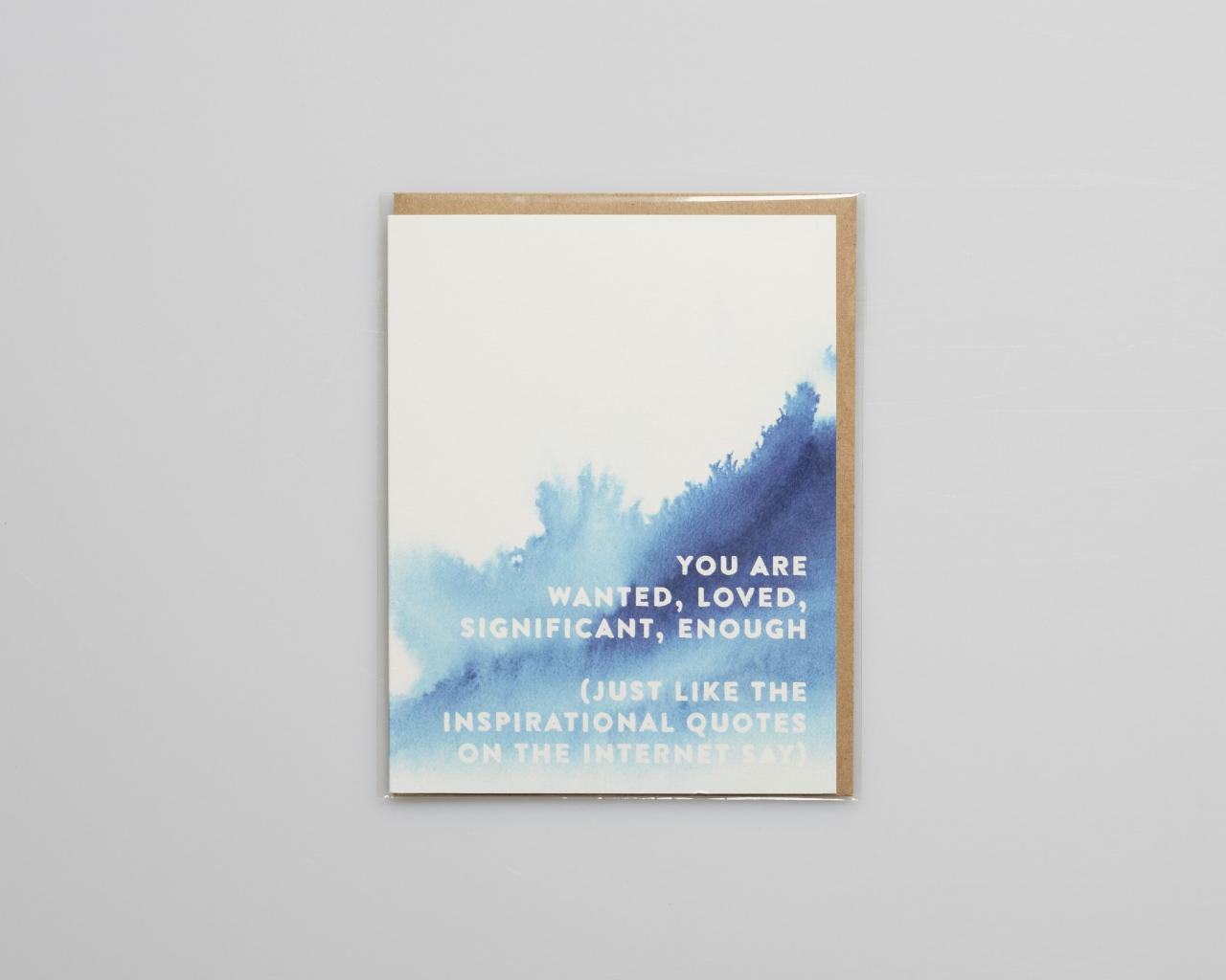Inspirational Quotes Card Final Sale