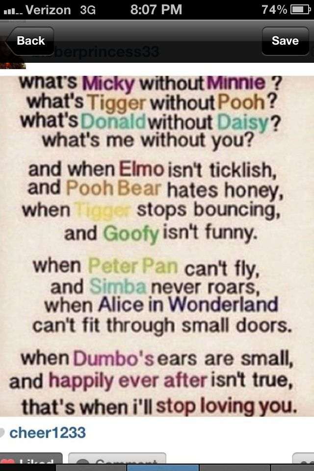 Disney Love Quotes And More Cute