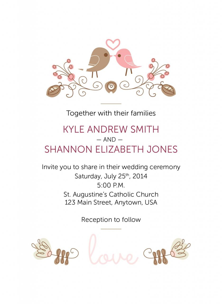 Love Birds Wedding Invitation Matches Love Birds Save The Date Card Customizable For