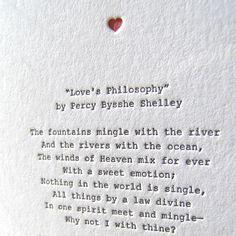 Letterpress Note Card Love Poetry S Ey
