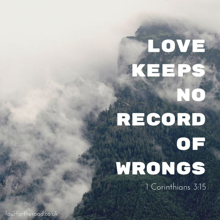 Love Quote A Bible Quote About Love Love Keeps No Record Of Wrongs