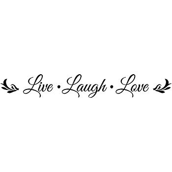 Wall Decal Quote Live Laugh Love Embellishment Wall Decal Sticker Art Mural Home Decor Quote Lettering