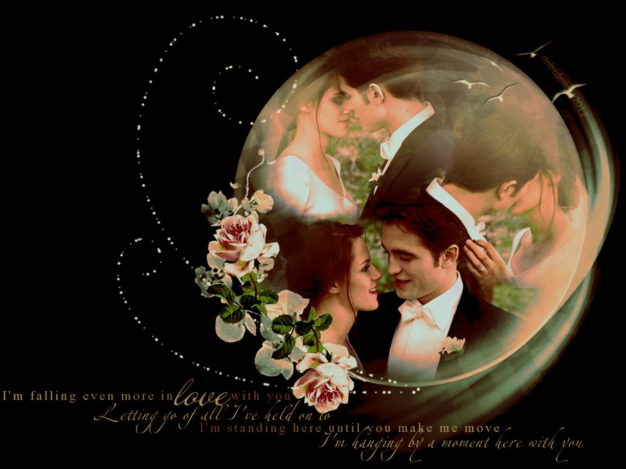 Twilight Wallpaper Edward And Bella Wedding Google Search