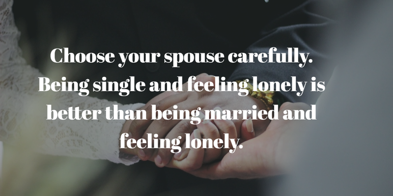 Being Single Is Better Than A Bad Marriage