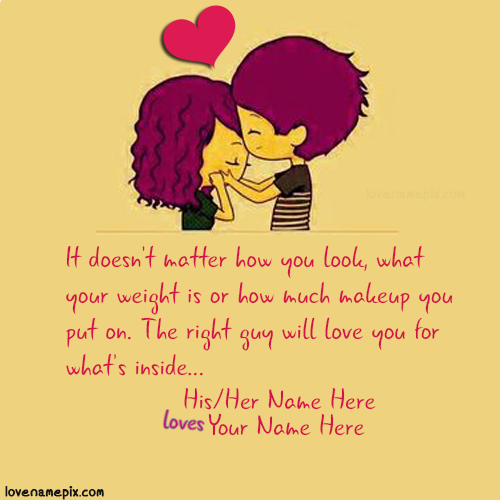 Write Couple Name On Sweet Cutest Love Quotes For Her Image For Dps Cute