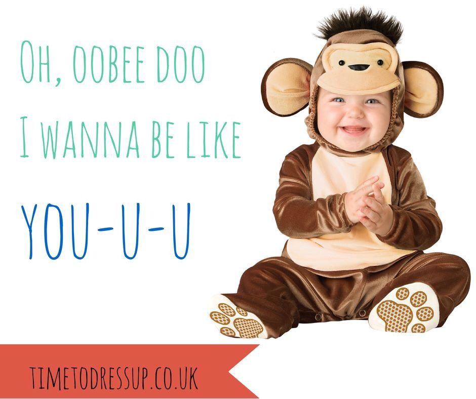 Jungle Book Quote For This Love Monkey Baby Fancy Dress Costume From Www Timetodressup