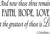 Amazon Com Faith Hope Love Corinthians Wall Quote Decal Scripture Bible Verse Quotes Vinyl Home Kitchen