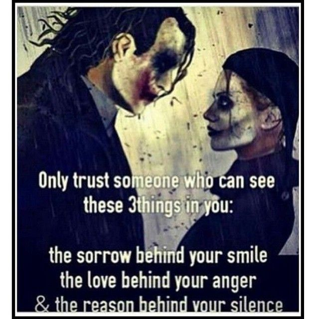 Joker And Harley Quinn Quote One Of The Reason I Trust Few People In My Life  F F