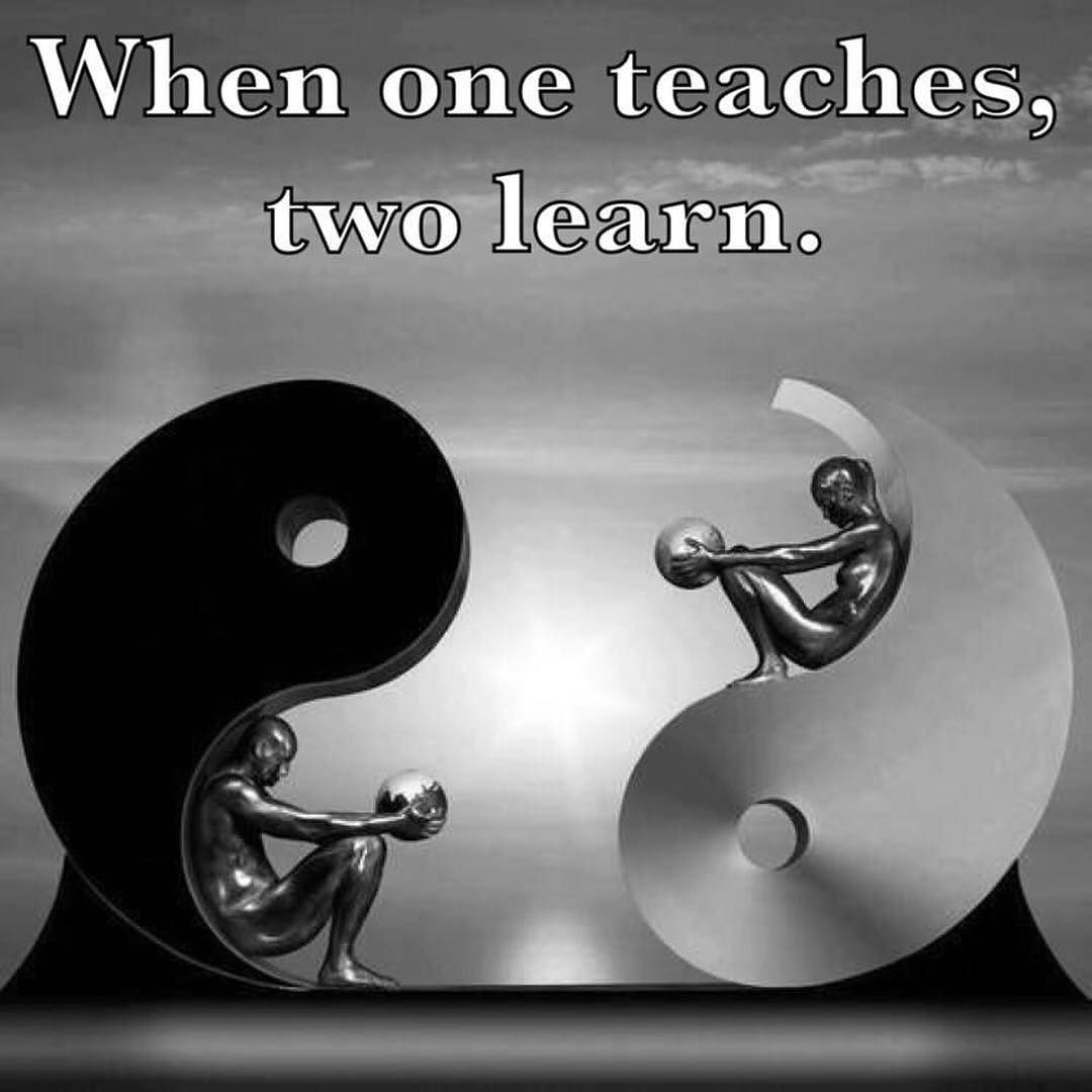 Yin Yang Balance When One Teaches Two Learn Check Http Consciousnessind At Peace Quotesspiritual Love