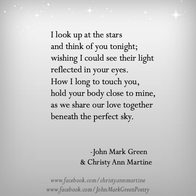 Beneath The Perfect Sky Long Distance Love Poem Quotes By John Mark Green And