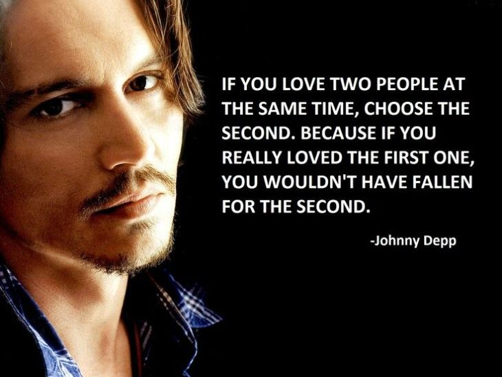 If You Love Two People Johnny Depp