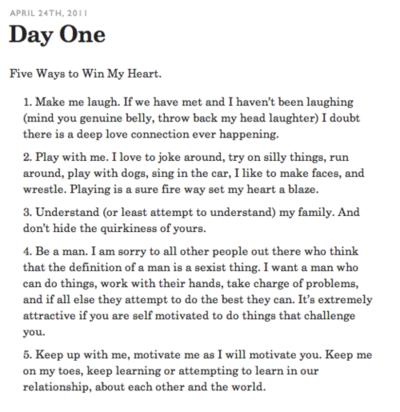 Five Ways To Win My Heart