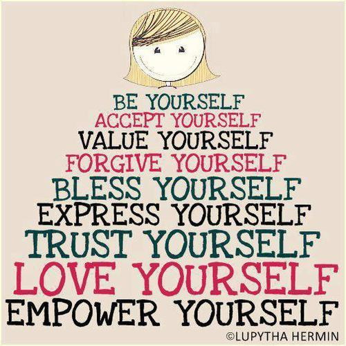 Value Yourself Forgive Yourself Bless Yourself Express