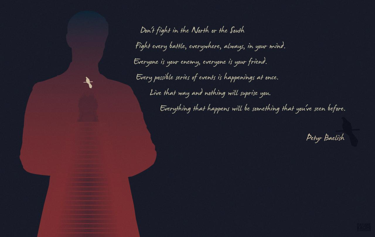 Limitedse Petyr Baelish Gave Me Chills With This Quote So I Made A Simplistic Wallpaper Of It