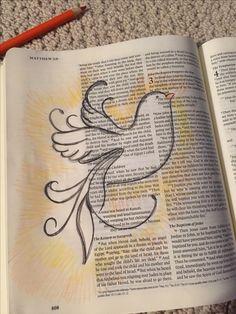 Bible Journaling Acts The Power Of The Holy Spirit Heiliger Geist Heilige Und Feuer