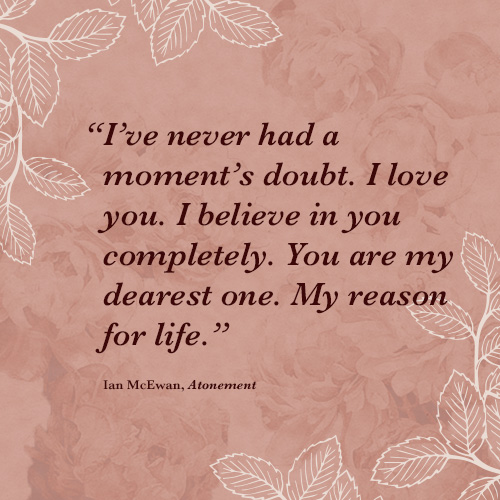 Romantic Lit Quotes  Ianmcewan
