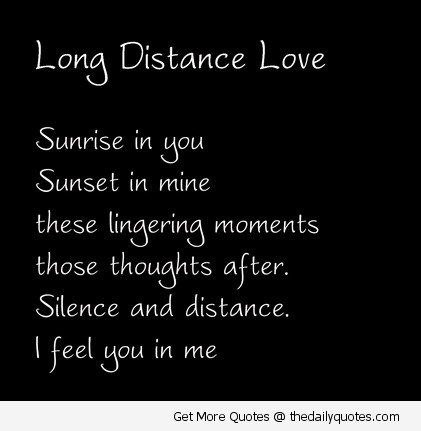Long Distance Love Poems And Quotes