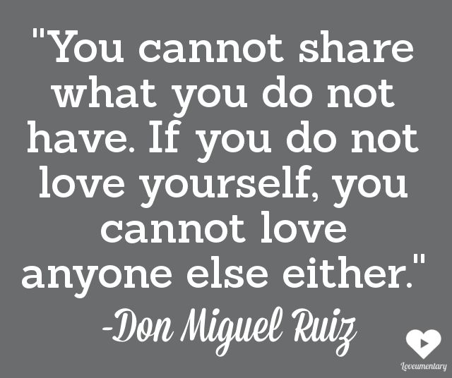 Love You Cannot Share What You Do Not Have