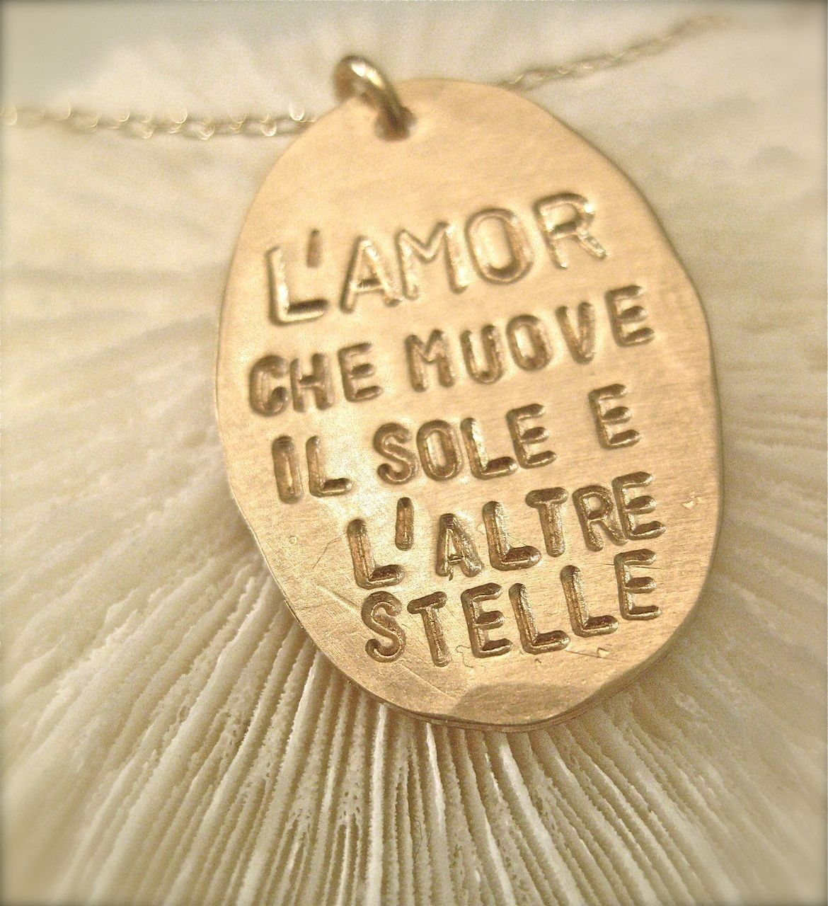 Italian Quote Necklace Dantes In Gold The Love That Moves The