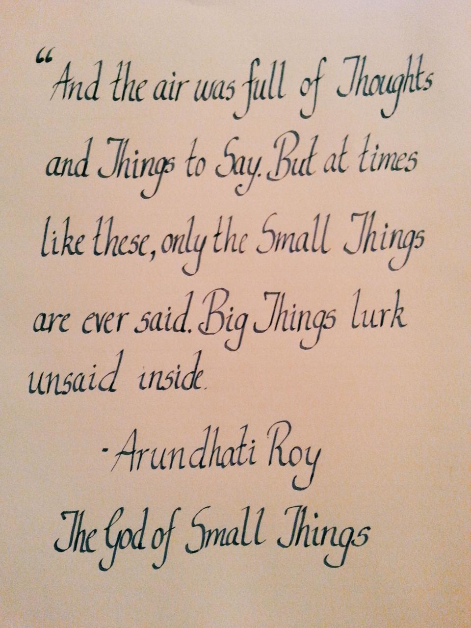 Of Small Things Arundhati Roy