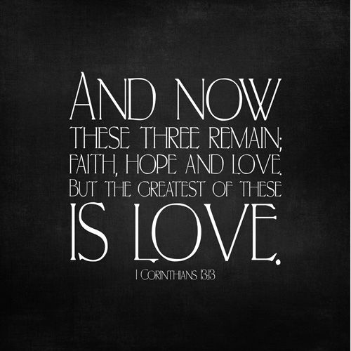 Now These Three Remain Faithhope And Love Bible Quote