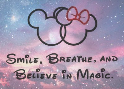 Believe Cute Disney Galaxy Magic Mickey Minnie Mouse Music Tozqf Quote Jpg
