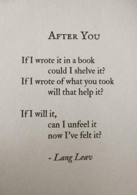 After You Poetry Love Broken Heart