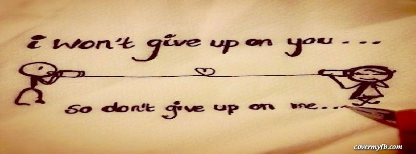 I Wont Give Up On You Cover  C B Stacy Martian Category Quotes Love