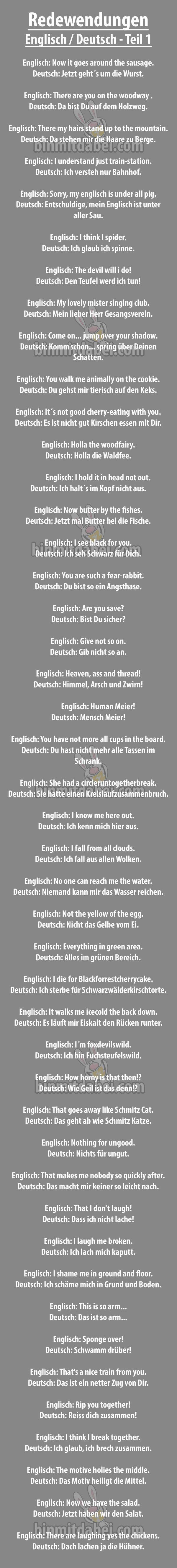 Ubersetzung Deutscher Sprichworter Ins Englische