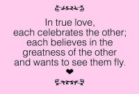 In True Love Each Cele Tes The Other