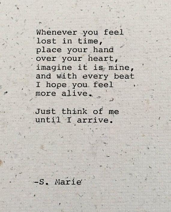Ldr Long Distance Poetry Gift Long Distance Relationship Love Poem Until I Arriveoriginal Poem Gift Typed Handmade Paper Ready To Frame