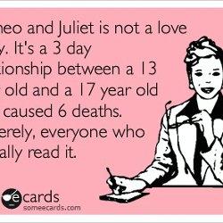 Romeo Juliet Themes Lesson Rj Postcard