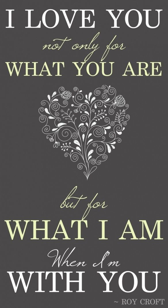 Items Similar To I Love You Not Only For What You Are But For What I Am When Im With You Word Art Print Love Quote Poster Grey White Simple