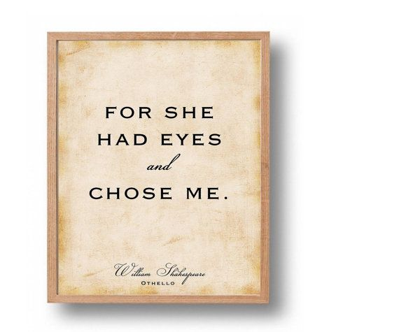Ot O Quote Print William Shakespeare Cl Ic Literary Wall Art Typography Newlywed Love