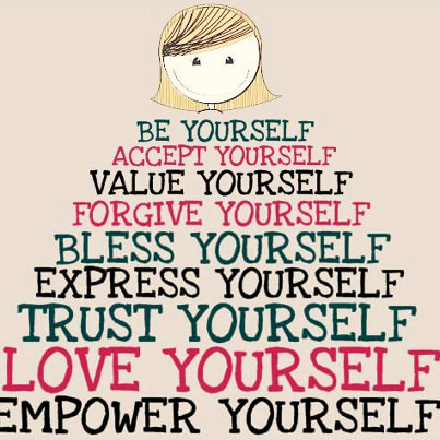 Be Yourself Be Yourself Accept Yourself Value Yourself Forgive Yourself Bless Yourself Express