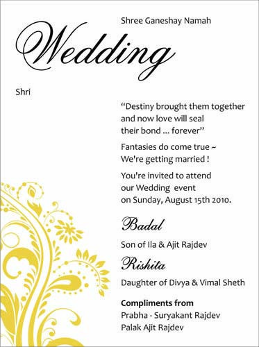 Image Result For Wedding Invitation Card Content
