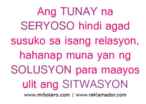 Best Tagalog Love Quotes Relasyon Problem Quotes