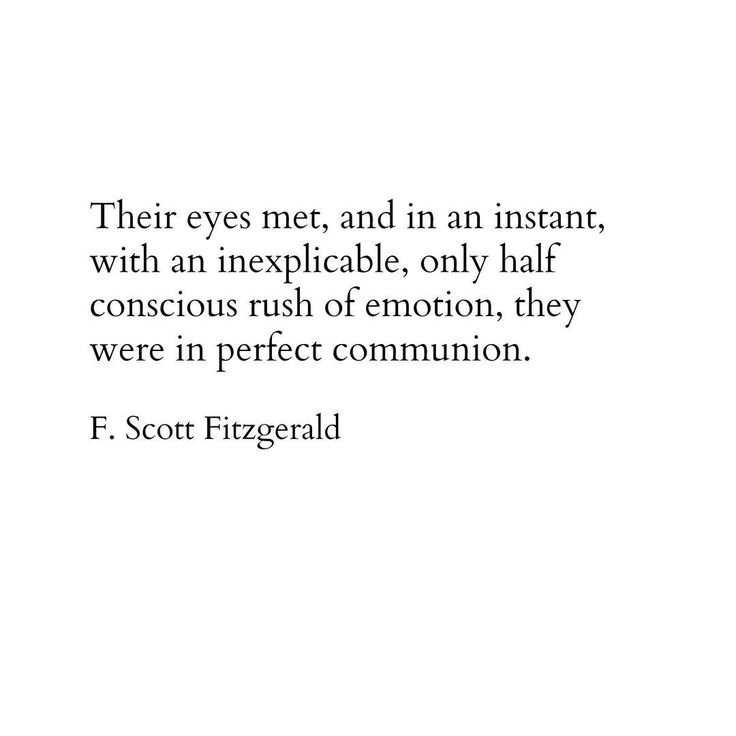 F Scott Fitzgerald Quote Literature Eyes Love Meeting