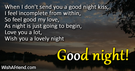Good Night Messages For Boyfriend