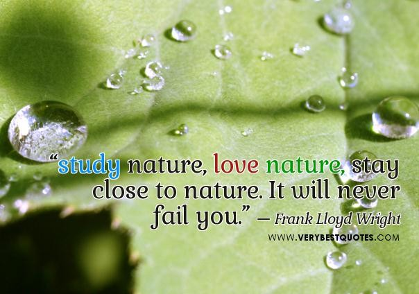 Study Nature Love Nature Stay Close To Nature It Will Never Fail You Happiness Quote